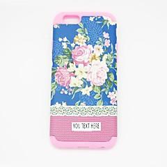 caso de telefone personlized - azul sillicone flor para iphone 6