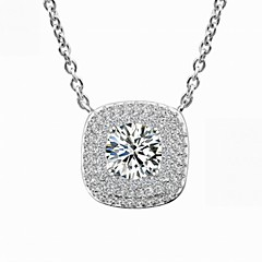 Fashion Necklace Jewelry,in 925 Sterling Silver Necklace Jewelry,Cubic Zirconia Necklace,Women's Necklace Jewelry