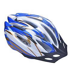 Unisex Fashion and High-Breathability PC + EPP Bicycle Helmet With Detachable Sunvisor(19 Vents) - Blue+Golden+Silver