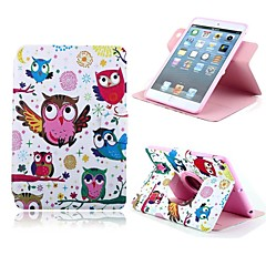 Owl Pattern PU Leather Full Body Case with Card Slot and Stand for Apple iPad Mini 1/2/3