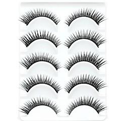New 5 Pairs Natural Looking Black Long Thick False Eyelashes Eyelash Eye Lashes for Eye Extensions