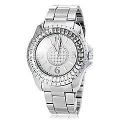 naisten diamante tapauksessa hopea teräs bändi kvartsi muoti katsella (valikoituja värejä)
