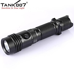 tank007® PT11 tactische 5-mode 1xCree xp-g r5 zaklamp (420LM, 2x16340 / 2xcr123, zwart)