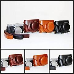 pajiatu retro PU-Leder Kamera Schutzhülle Taschendeckel mit Schultergurt für Fujifilm X30 Digitalkamera