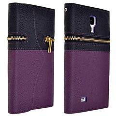 elegant blixtlås plånbok PU läder hela kroppen fallet med kortplats för för Samsung Galaxy S4 i9500