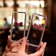 o bowknot roxo de cristal com diamantes tampa traseira dura para o iPhone 5 / 5s (cores sortidas)