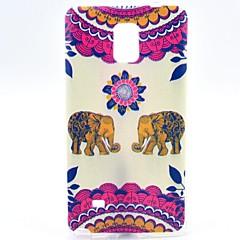 Varten Samsung Galaxy Note Kuvio Etui Takakuori Etui Elefantti TPU Samsung Note 4