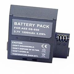 1500mAh 3.7V videoopptaker batteri ds-d50 for AEE S51 S50