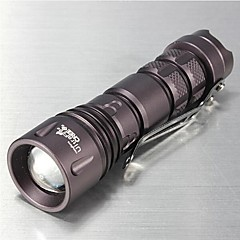 LT-00016 3Modes  CREE XPE-Q5  Zoomable  Mini LED Flashlight (800LM.1XAA.Purple)