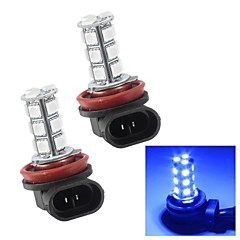 Merdia H8 3W 110LM 18x5050SMD LED Blue Light for Car Fog Light Bulbs (Pair/12V)