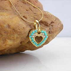 18k de oro chapado colgante turquesa corazón