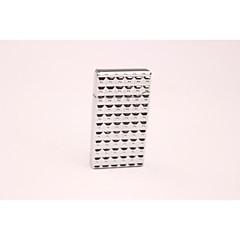créatif cube d'eau en métal or butane briquet en argent