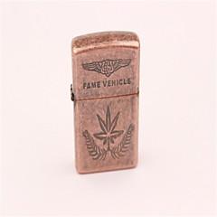 kreativ ahorn blad design metal vindtæt butan lighter brun bronze