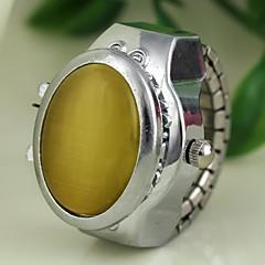 vrouwen jade stijldekking zilveren legering quartz horloge ring (verschillende kleuren)