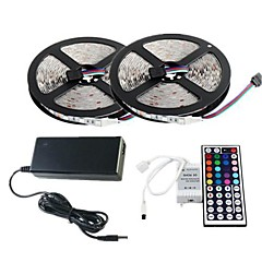 Z®ZDM 2×5M 300 3528 SMD and 44Key Remote Controller 6A EU AU US Power Supply AC110-240V