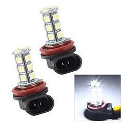 Merdia H8 3W 110LM 18x5050SMD LED White Light for Car Fog Light Bulbs (Pair/12V)
