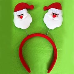 Christmas Red Flush Santa Claus Headband(6pcs)