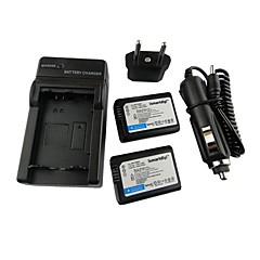 ismartdigi-Sony NP-FW50 x2 (1500mAh, 7.2V) kamerabatteri + eu plugg + billaddare för nex-5t 5r 3n f3 c3 a7 7 a55 a35 a7r