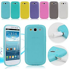 TPU Soft Case with Dust Plug for Samsung Galaxy S3 I9300 (Assorted Colors)