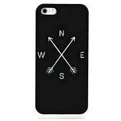 Black Compass Pattern Hard Case for iPhone 5/5S