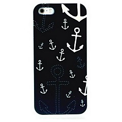 Blue Anchor Pattern Hard Case for iPhone 5/5S