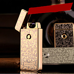 jobon usbの金属電子超薄型防風シガレットライター