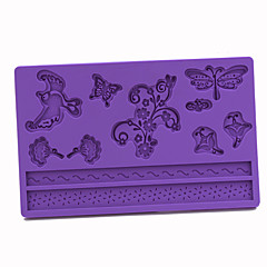 실리콘 잠자리 나비 패턴 퐁당 케이크 형, 20x13x1cm
