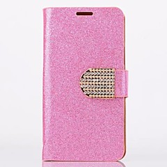 Glitter Powder Style PU Leather Full Body with Stand and Card Slot for Samsung Galaxy S4 Mini I9190(Assorted Colors)