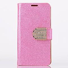 Stilul sclipici pulbere din piele PU corp plin cu stativ și slot pentru card pentru Samsung Galaxy S4 mini i9190 (culori asortate)