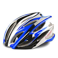 fjqxz 23 ventilatieopeningen eps + pc blauwe integraal gevormde fietshelm (58-63cm)