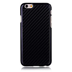 For iPhone 6 etui iPhone 6 Plus etui Andet Etui Bagcover Etui Helfarve Hårdt Kulstoffiber for iPhone 6s Plus/6 Plus iPhone 6s/6