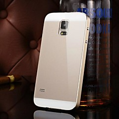 Two-in-one KX Brand Metal Frame Acrylic Mirror Backplane Metal Hard Case for Samsung Galaxy S5(Assorted Colors)