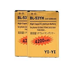 2PCS 이순신 - 이순신 ™ 교체 G3 / BL-53yh / d855 / vs985 / D830 / d851을 LG에 대한 고용량 4200mah 리튬 이온 배터리를 디코딩