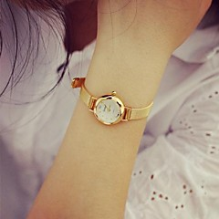 Women's Fashion Circular Alloy  Quartz  Watch