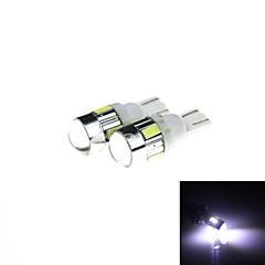 T10 3W 144lm 6 x SMD 5630 LED White Light Car Turn Signal Corner Parking Lamp (DC 12V / 2 PCS)