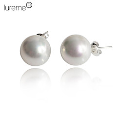 Lureme®8mm Pearl Earring (Assorted Colors)