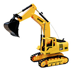 DZD 3823 rc bil engineering utgrävning fjärrkontroll grävmaskin leksak lastbil med ljus ljud