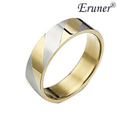 aço eruner®titanium listras douradas da jóia do anel