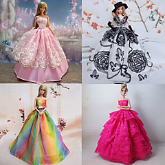 Princess Dresses For Barbie Doll Purple / Pink Dresses