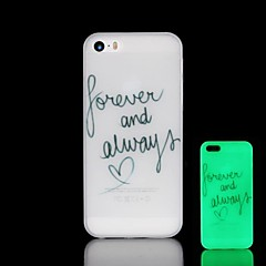 Phrase Pattern Glow in the Dark Hard Case for iPhone 5/5S