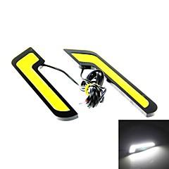 2 pcs carro l forma de espiga de branco 108 leds de condução diurna em execução luz do dia luz de neblina