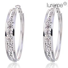 Earring Hoop Earrings Jewelry Women Party / Daily Crystal / Alloy Silver
