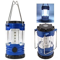 LS041 12 LED Adjustable Camping Tent Lamp Light Lantern With Compass(Blue)