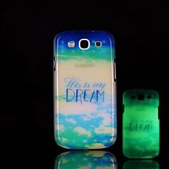 Phrase Pattern Glow in the Dark Hard Case for Samsung Galaxy S3 I9300
