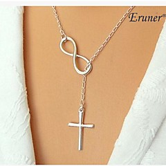 eruner® 무한대 십자가 목걸이 합금 크로스 무한 고리 올가미 - 믿음 영원히