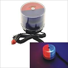 Carking™ 12V Car Vehicle 9 flash U Tube Strobe Light Warning Flashing Light with Magnetic Base-Red/Blue
