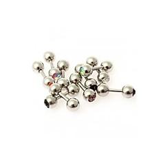 10pcs MIX Rhinestone Crystal 316L Steel Tragus Ear Studs Barbell Bar Ring