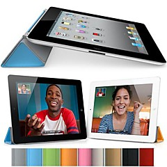 DF Pure Color Auto Sleep/Wake Up PU Folding Cover for iPad Air (Assorted Colors)