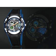 OHSEN Heren Sporthorloge Kwarts LED Kalender Chronograaf Waterbestendig Silicone Band Luxueus Zwart Wit Blauw Rood GeelWit Zwart Geel
