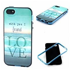 2-en-1 trouvé modèle TPU amour de la mer couvre retour avec pc butoir antichoc souple pour iPhone 5 / 5s